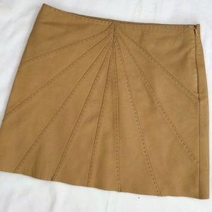 Catherine Malandrino Leather Skirt Sz 2